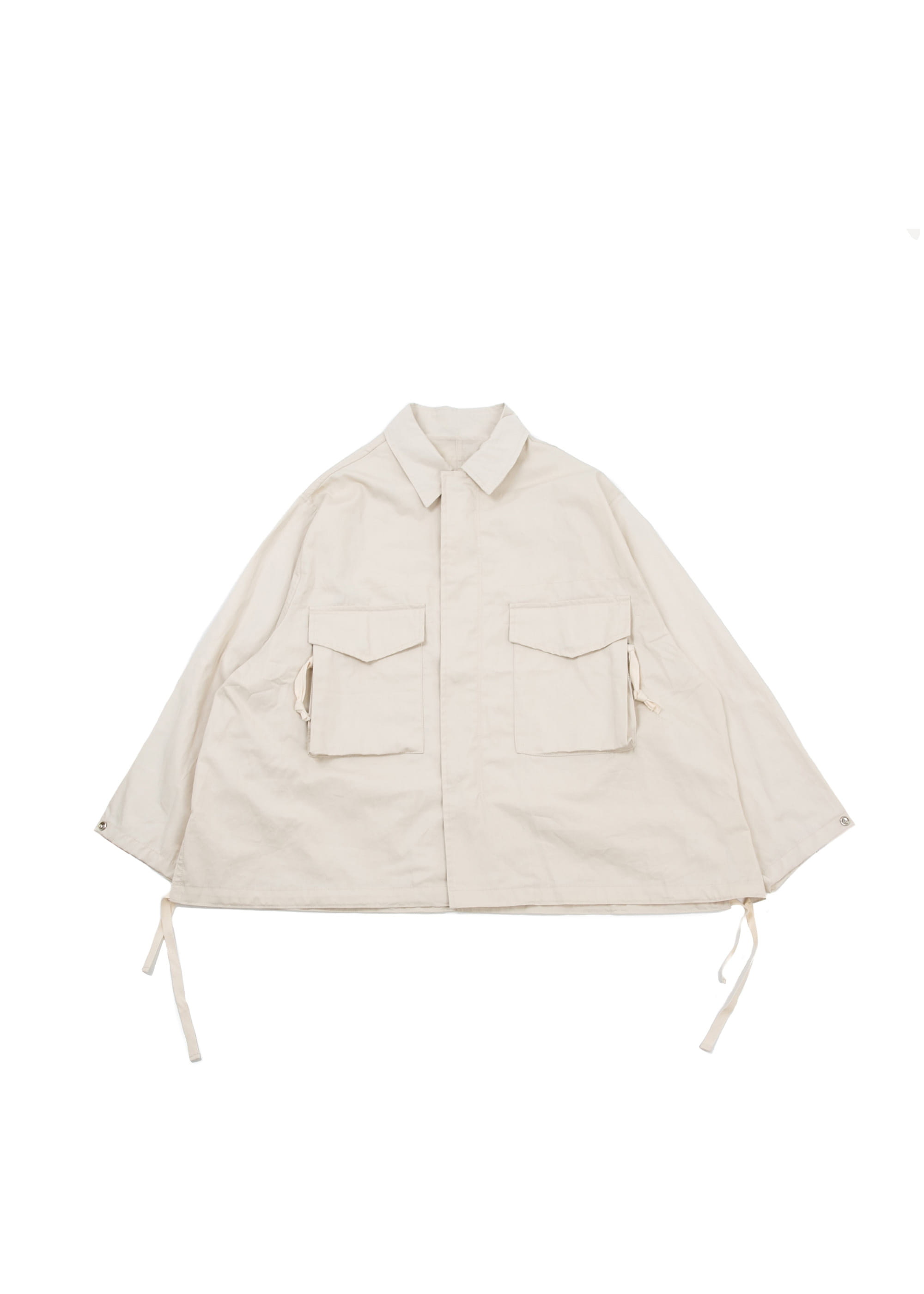 Trim Field Jacket - Ivory