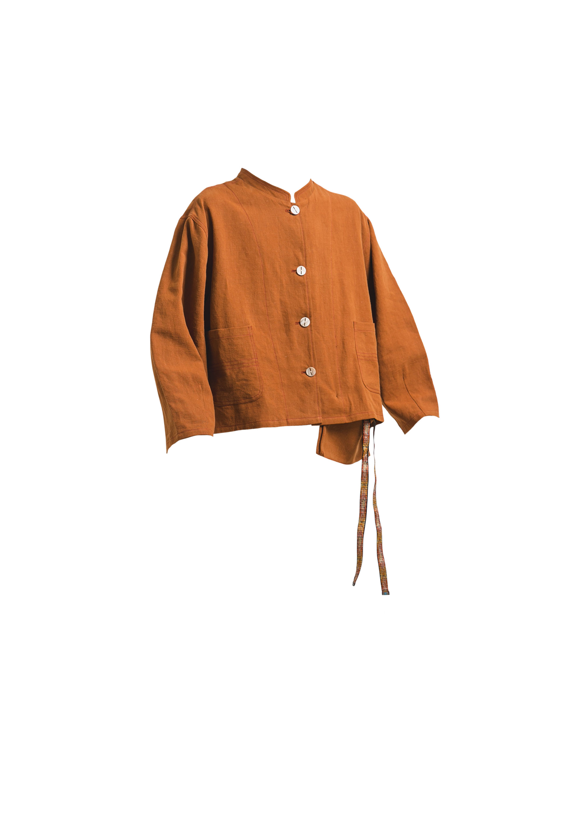 [AG] Linen Balloon Jacket - Brick