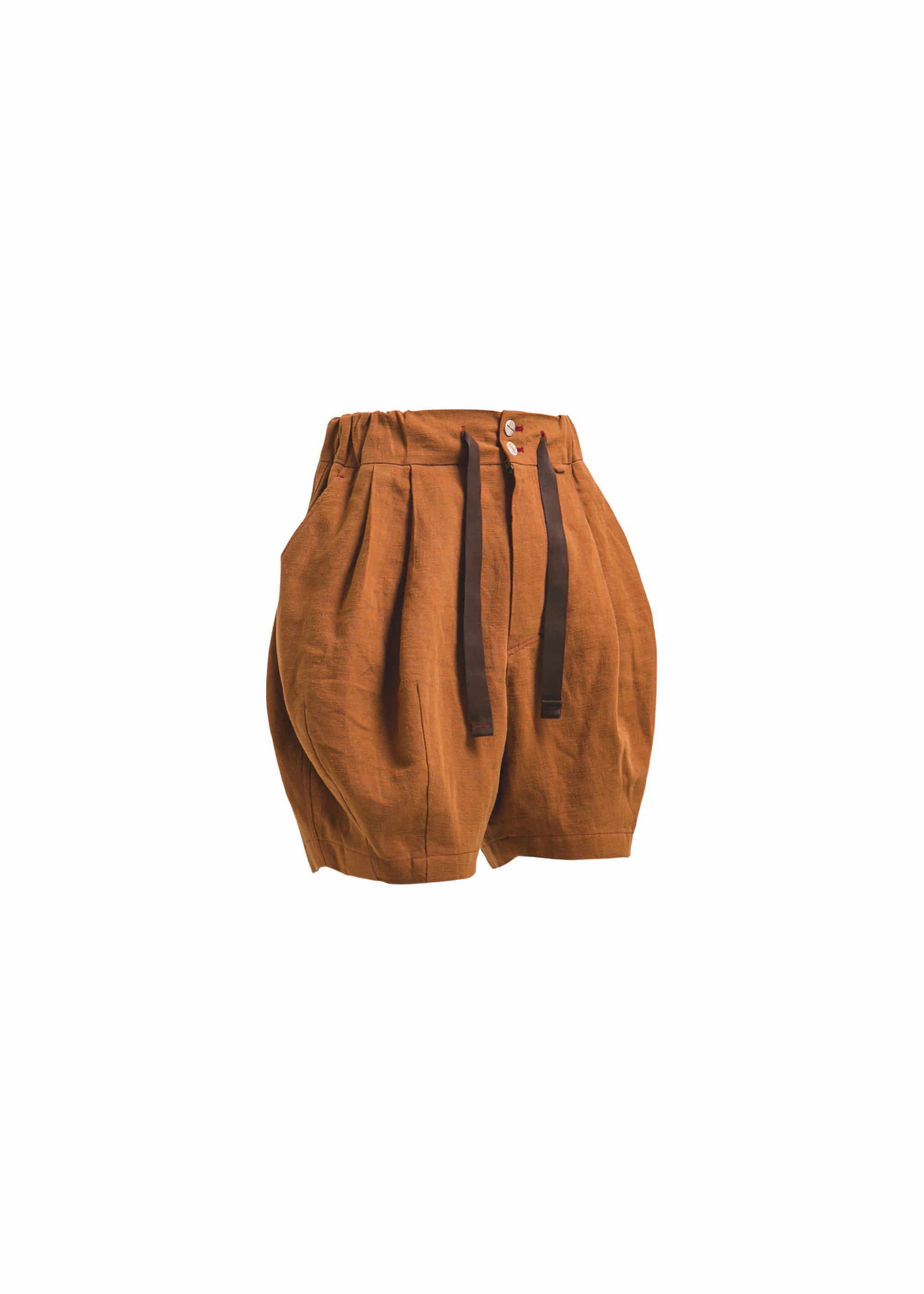 [AG] Linen Balloon Shorts - Brick