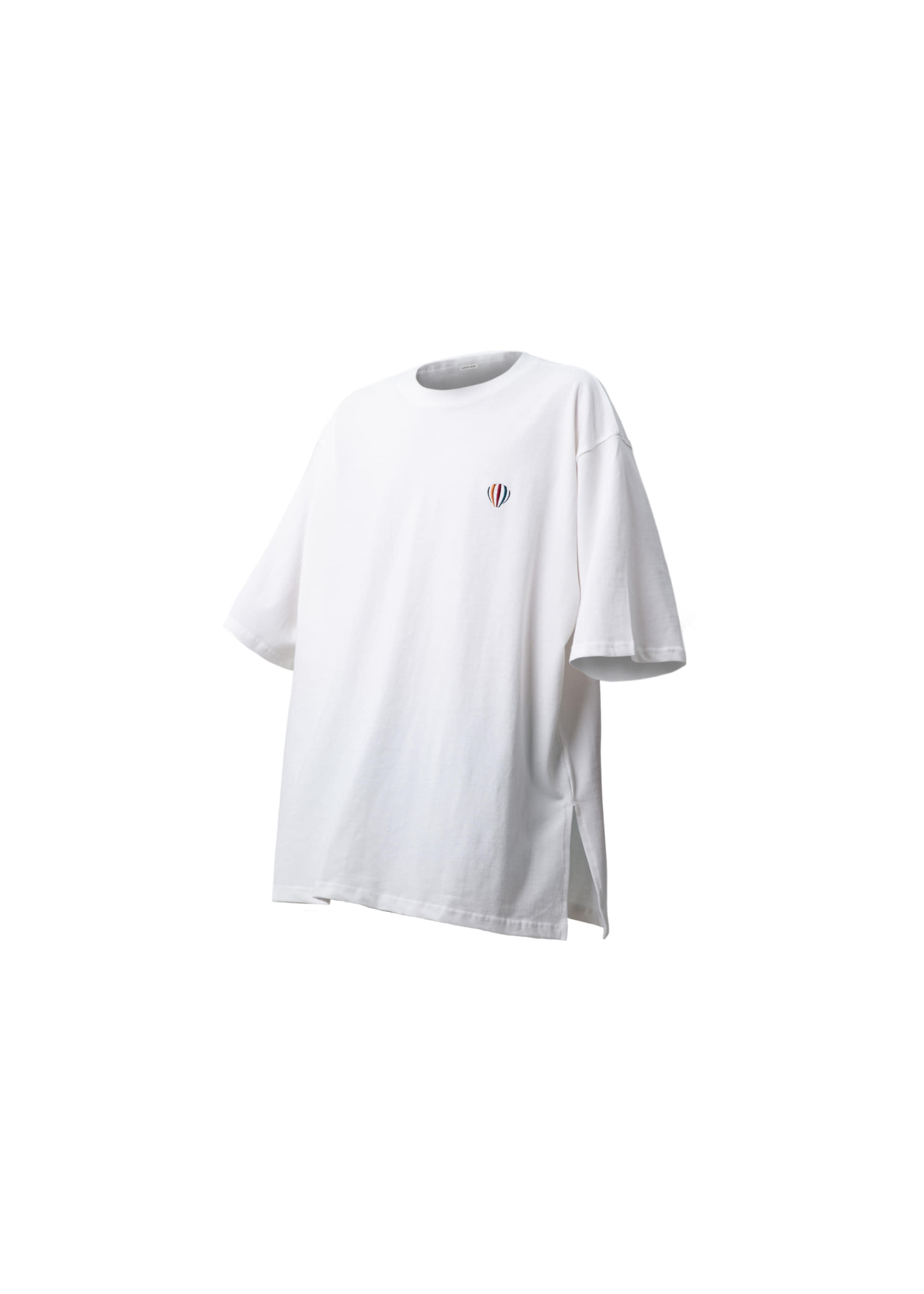 [AG] Balloon Logo Side Opening Tee - White