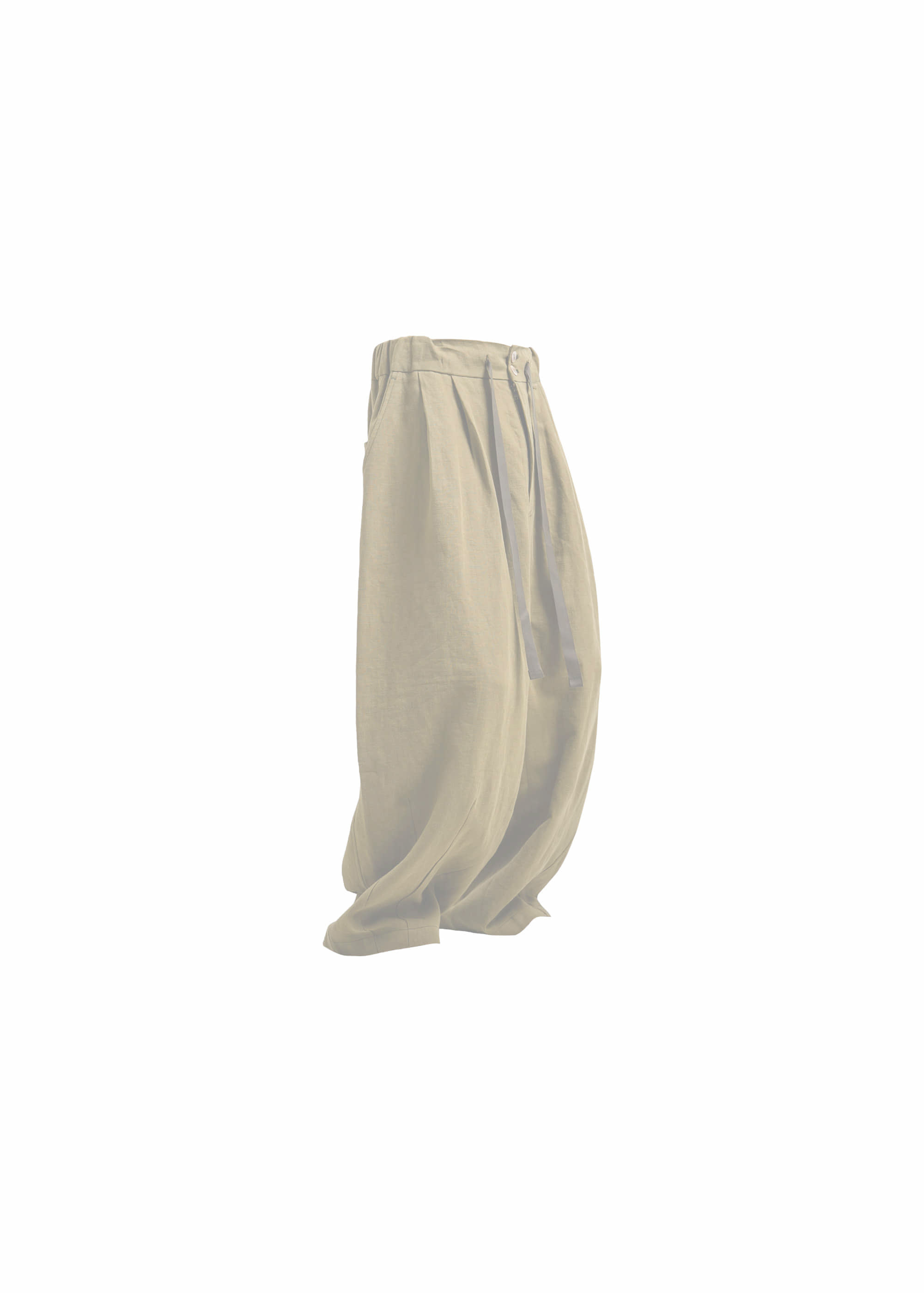 [AG] Linen Balloon pants - Khaki