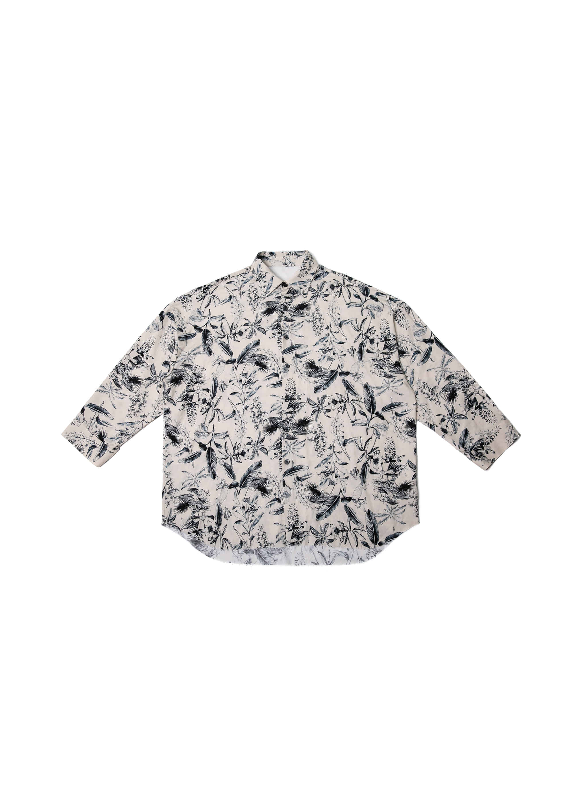 Flower Cutting Over Shirts - Beige