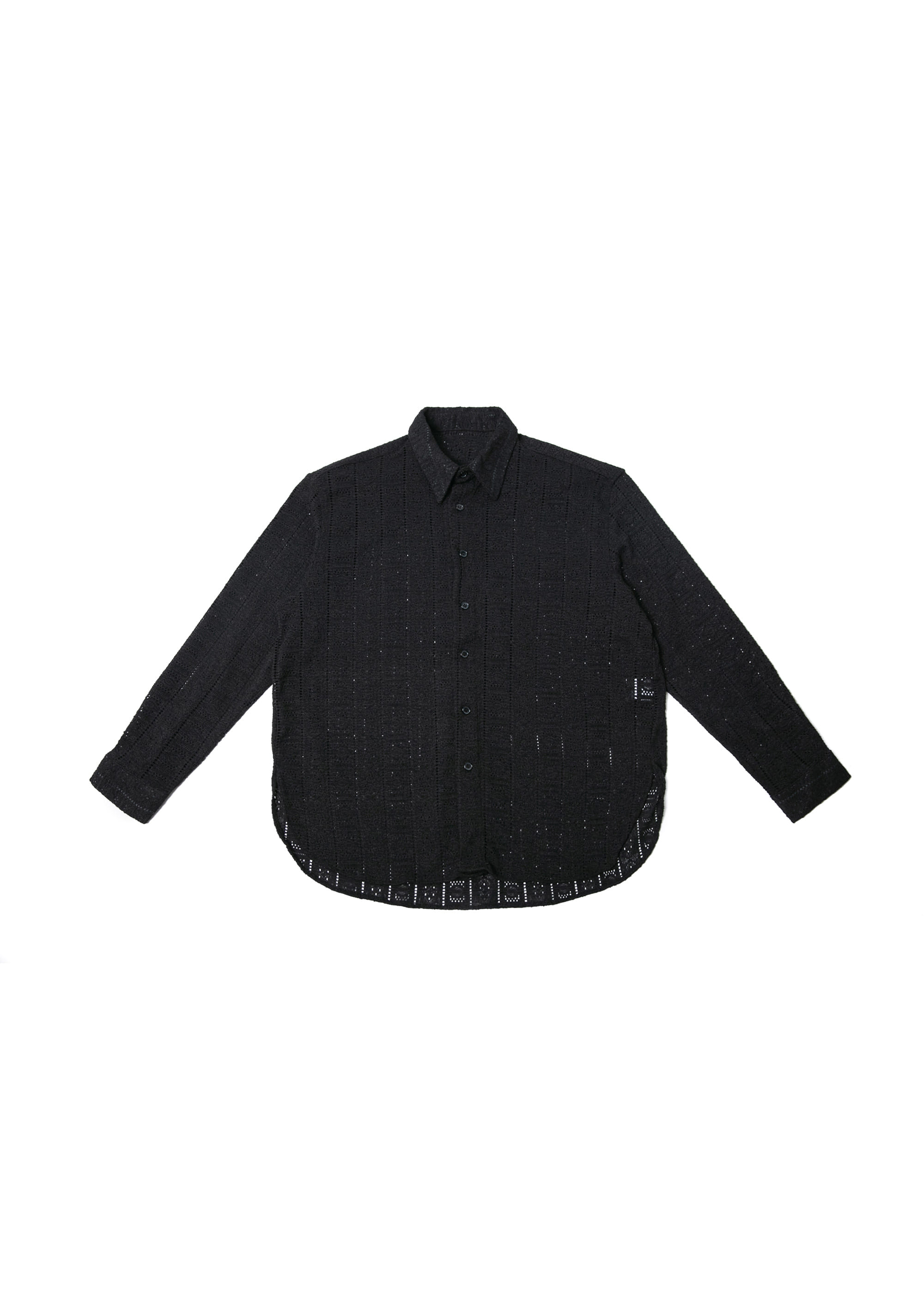 Lace Over Shirts - Black