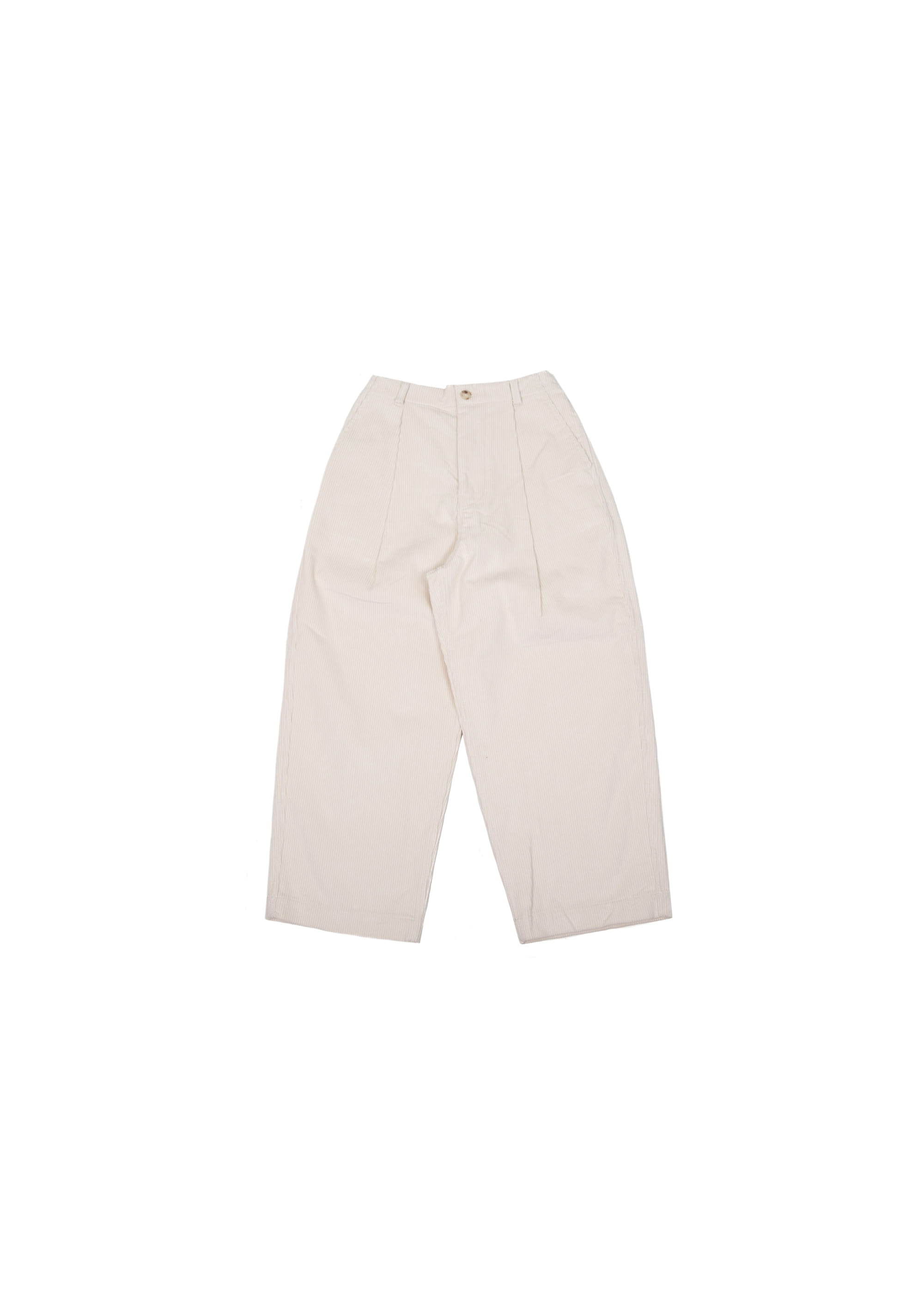 Corduroy Wide Pants - Ivory
