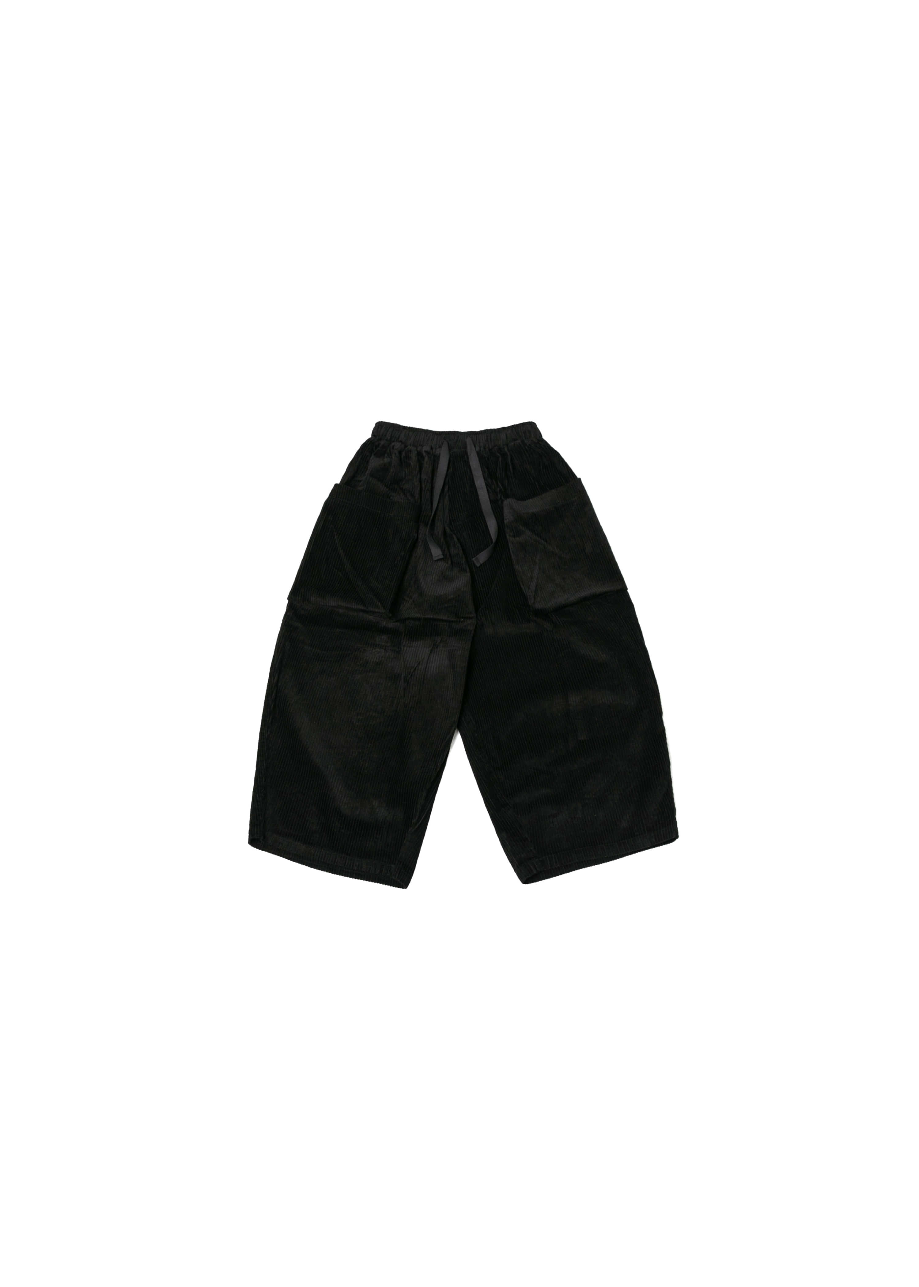 Corduroy Big Pocket Jungle Pants - Black