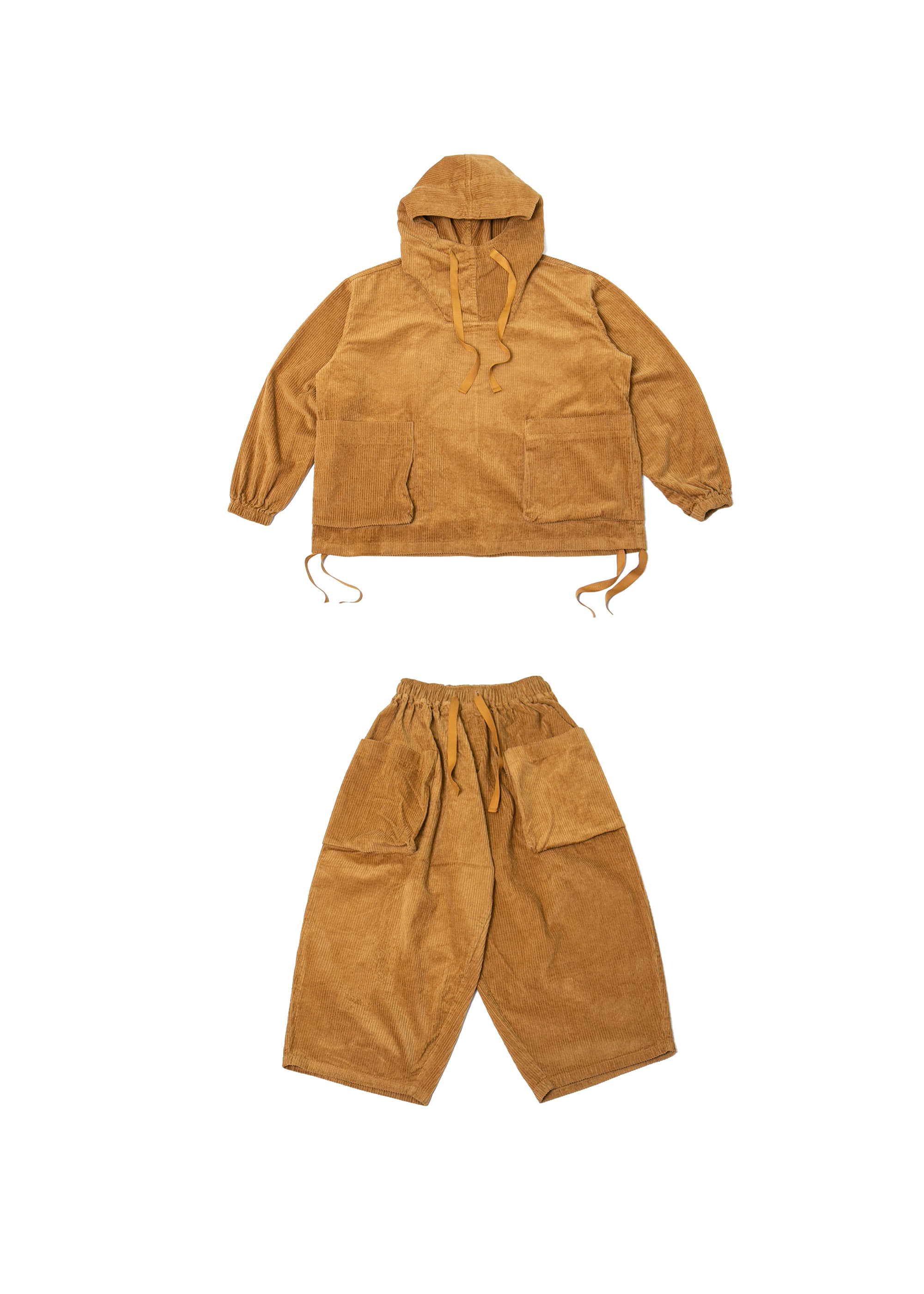 Corduroy Big Pocket Set up - Mustard