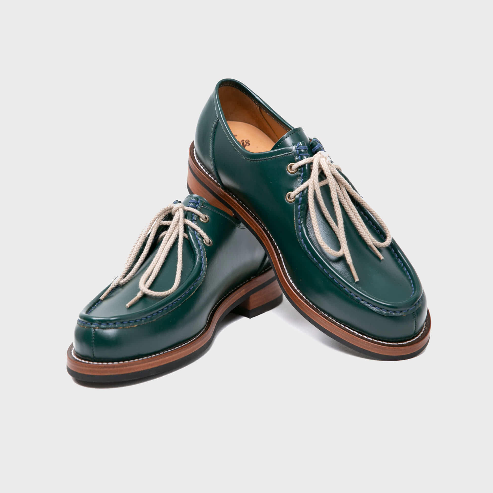 [BILLYS&CO X ANGLAN] Tyrolean Derby Shoes - Green