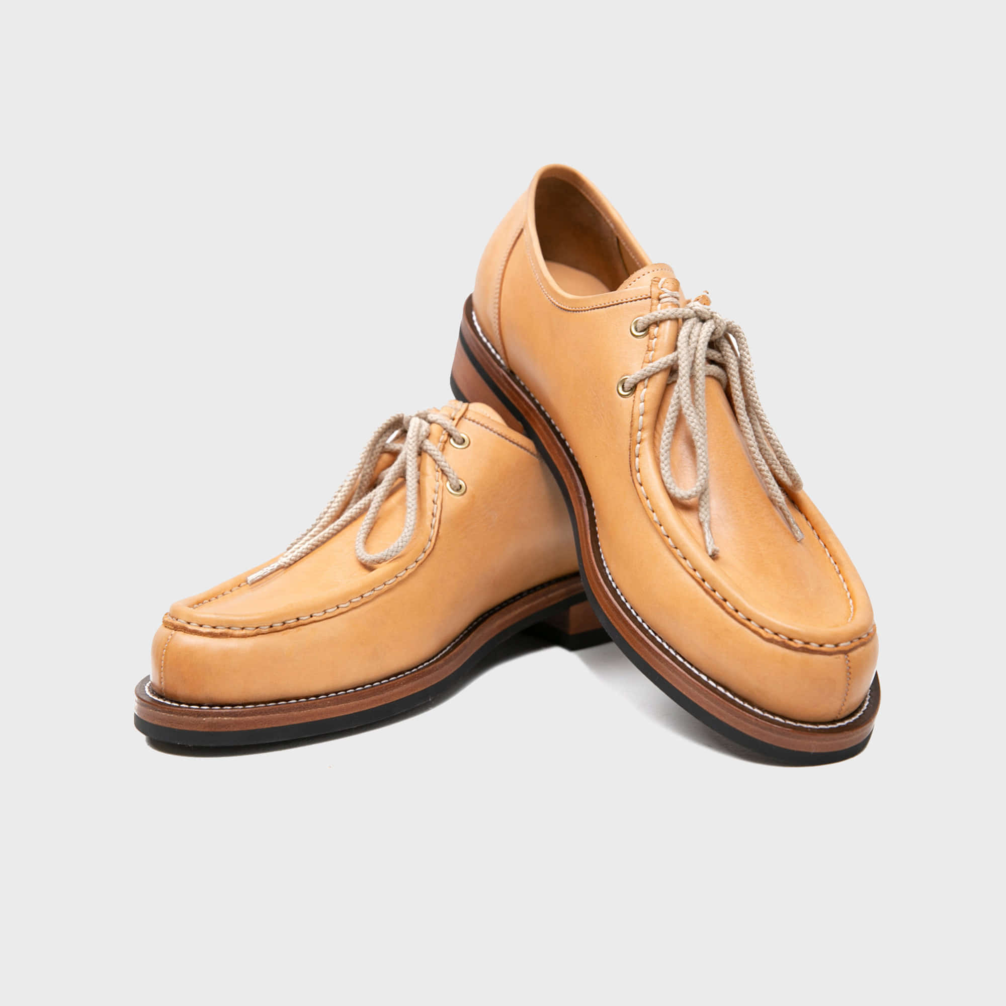 [BILLYS&CO X ANGLAN] Tyrolean Derby Shoes - Natural