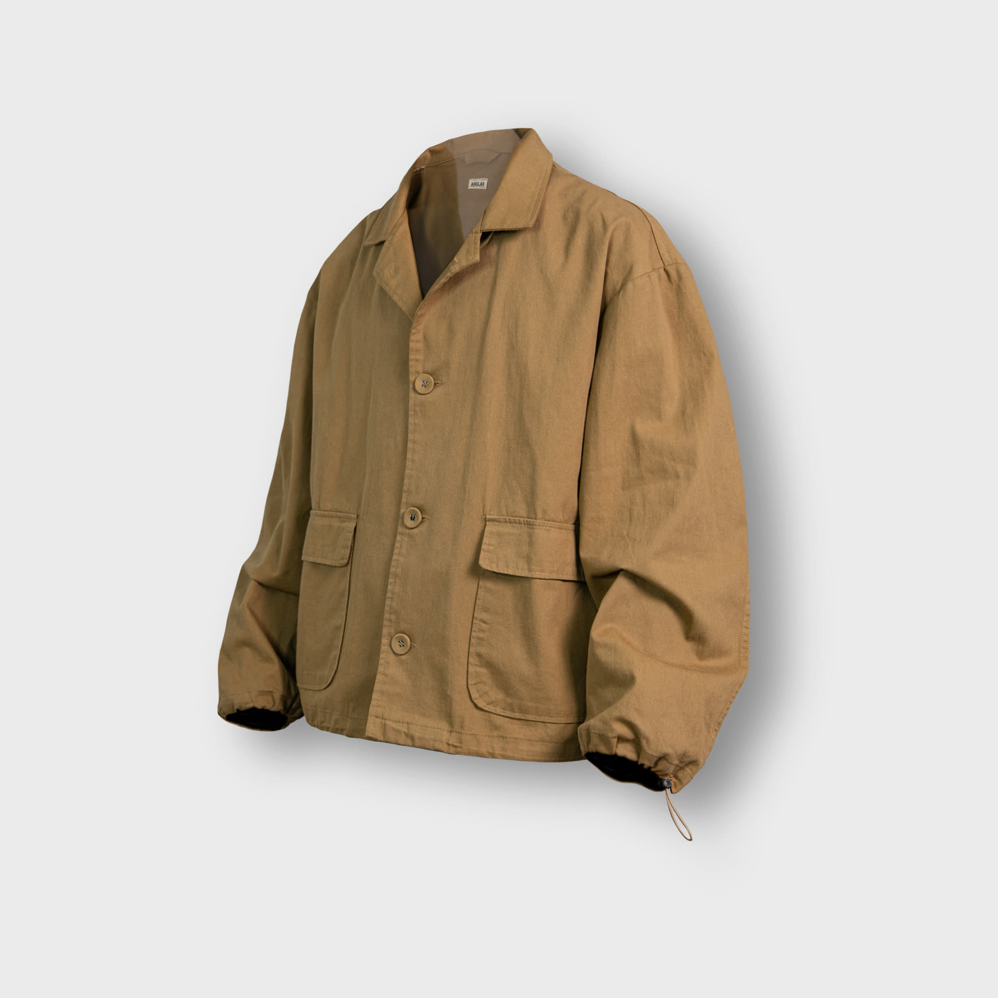 [AG] Twill Cotton String Shirt Jacket - Beige