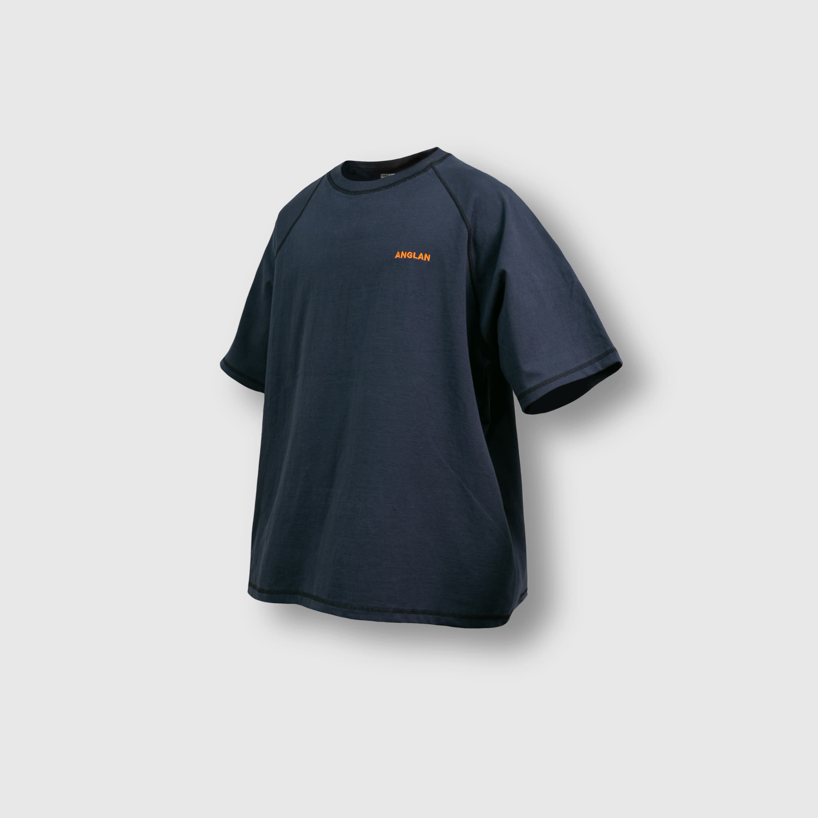 [AG] Raglan Over Half Tee - Navy