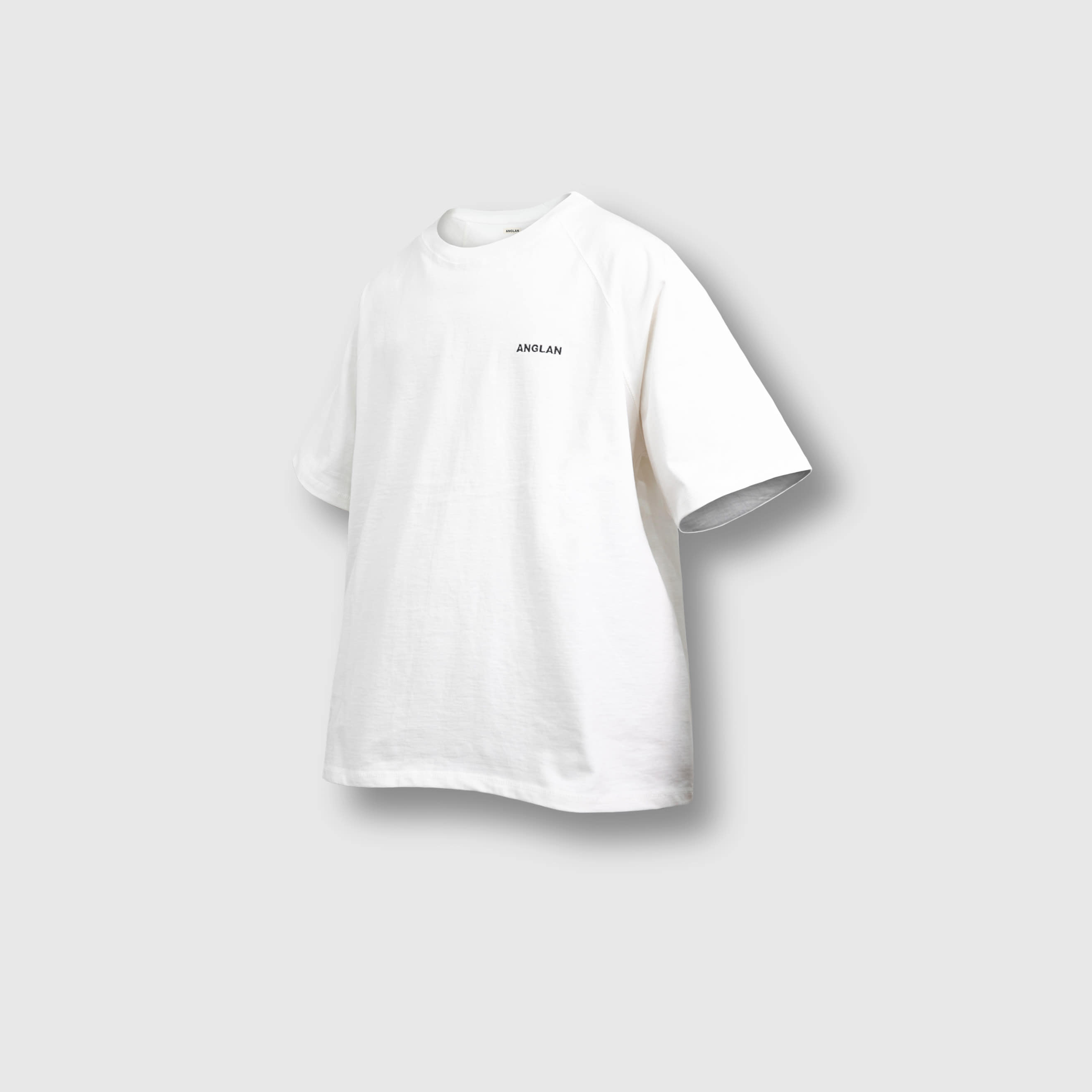 [AG] Raglan Over Half Tee - White