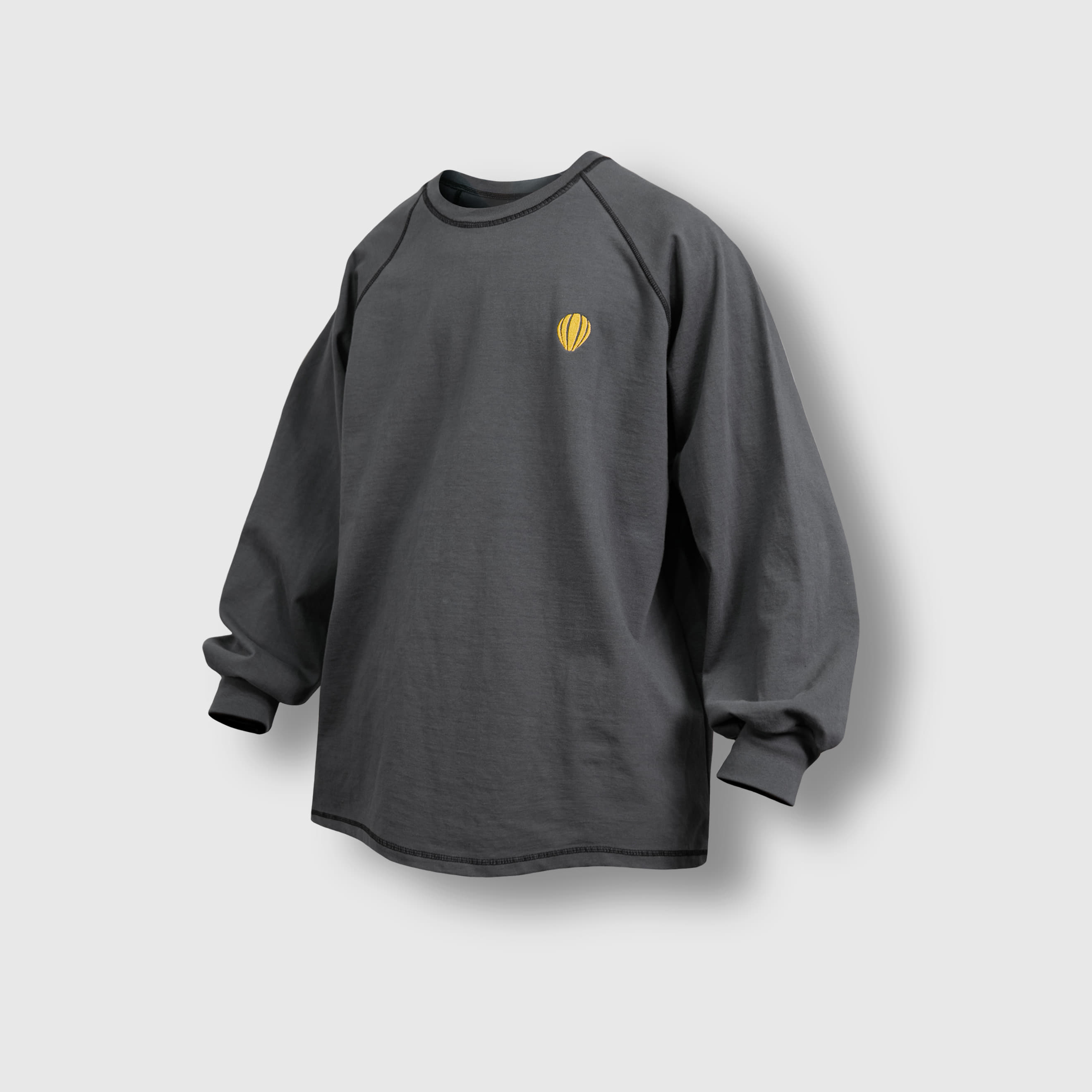 [AG] Raglan Over Long Sleeve Tee - Grey
