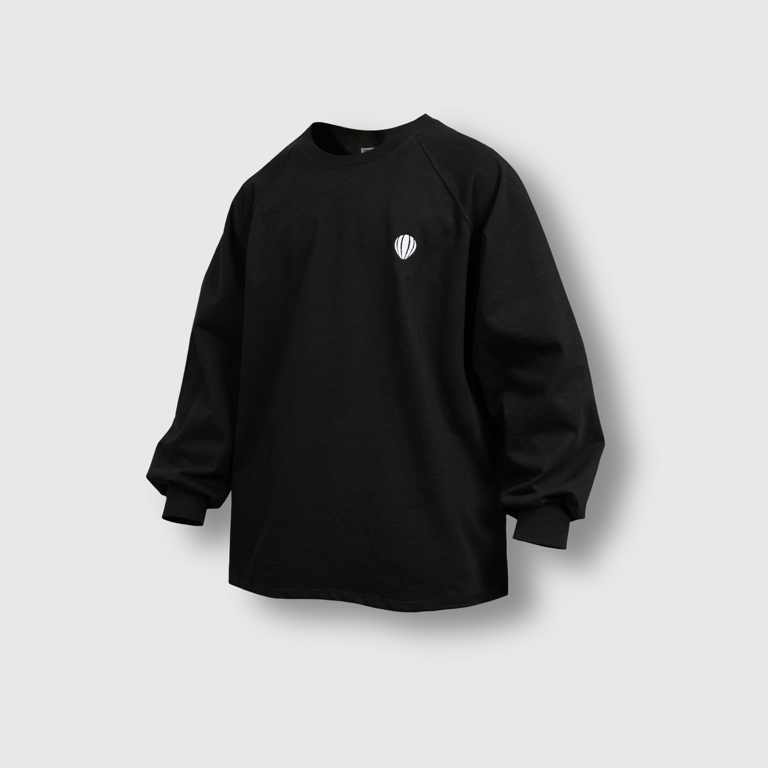[AG] Raglan Over Long Sleeve Tee - Black