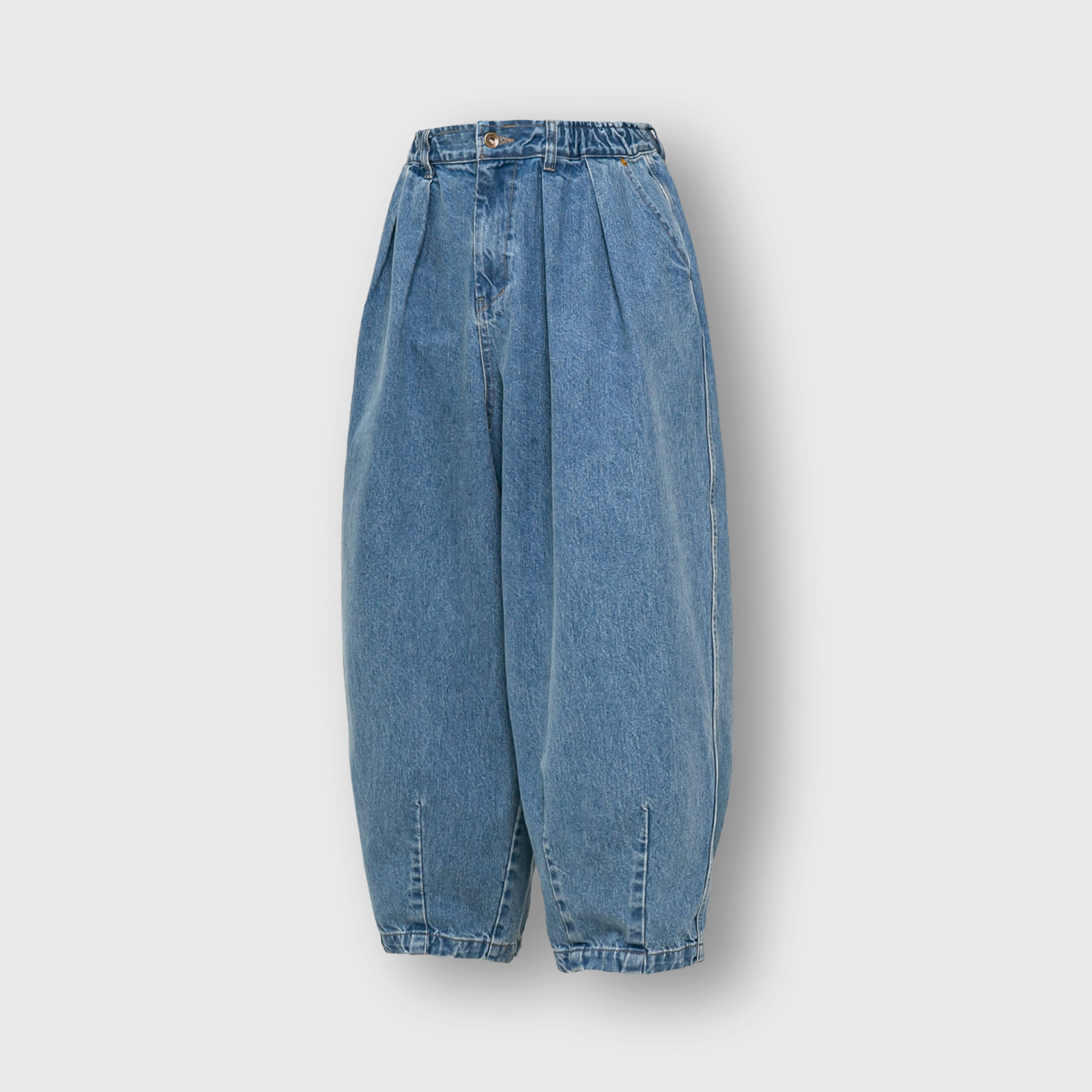 [AG] Stone Vintage Denim Balloon Pants