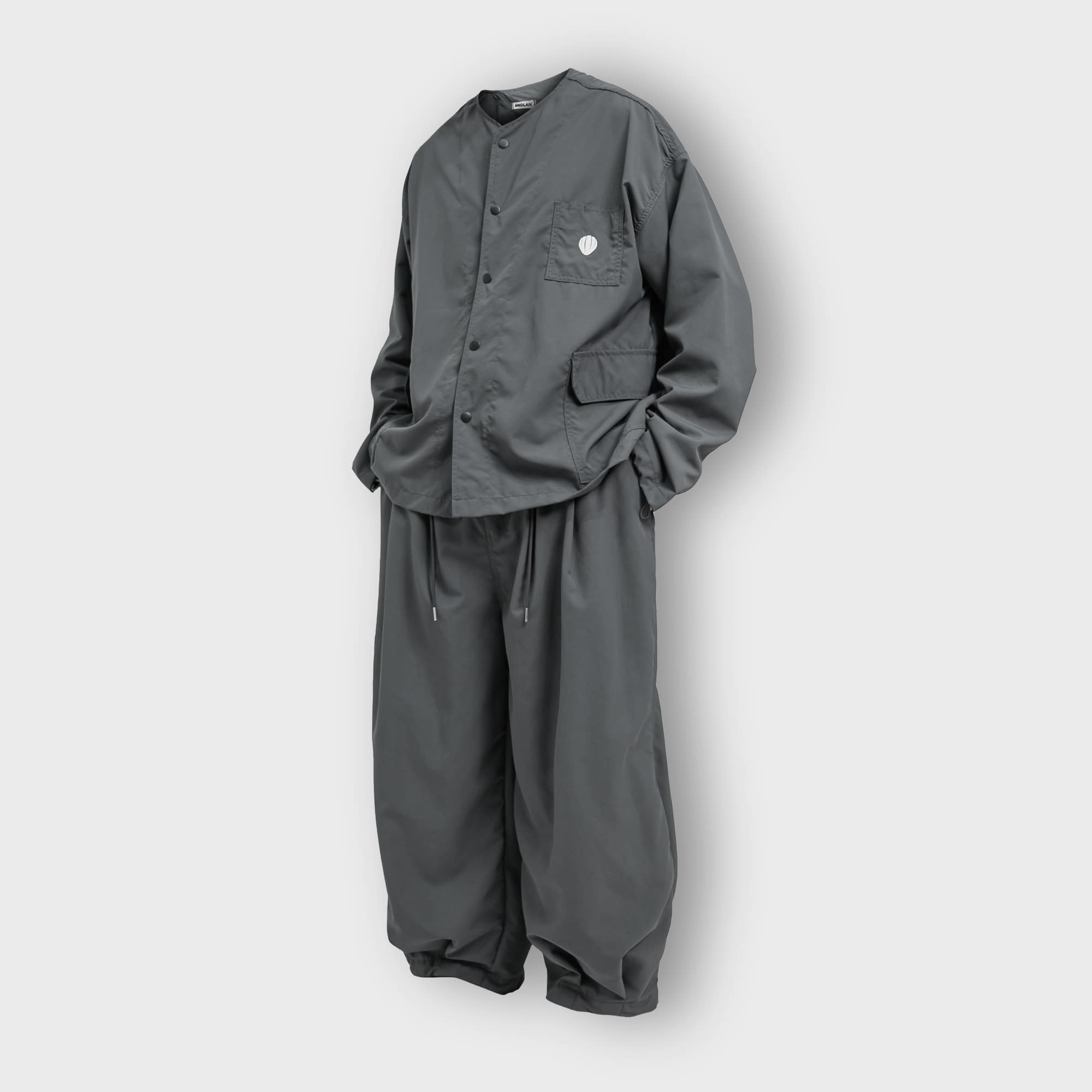 [AG] Rib Nylon Public Set up - Grey