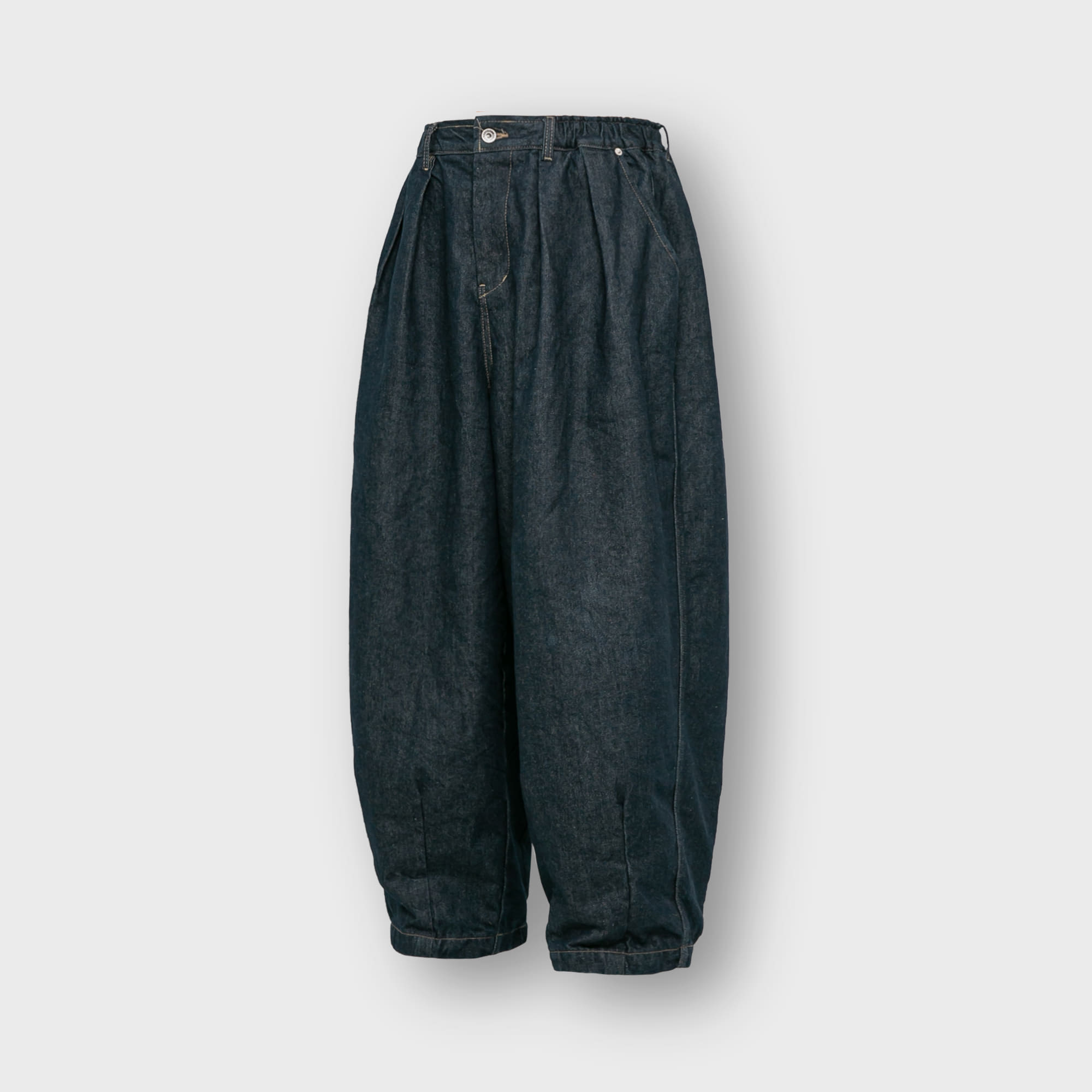 [AG] Rigid Indigo Denim Balloon Pants