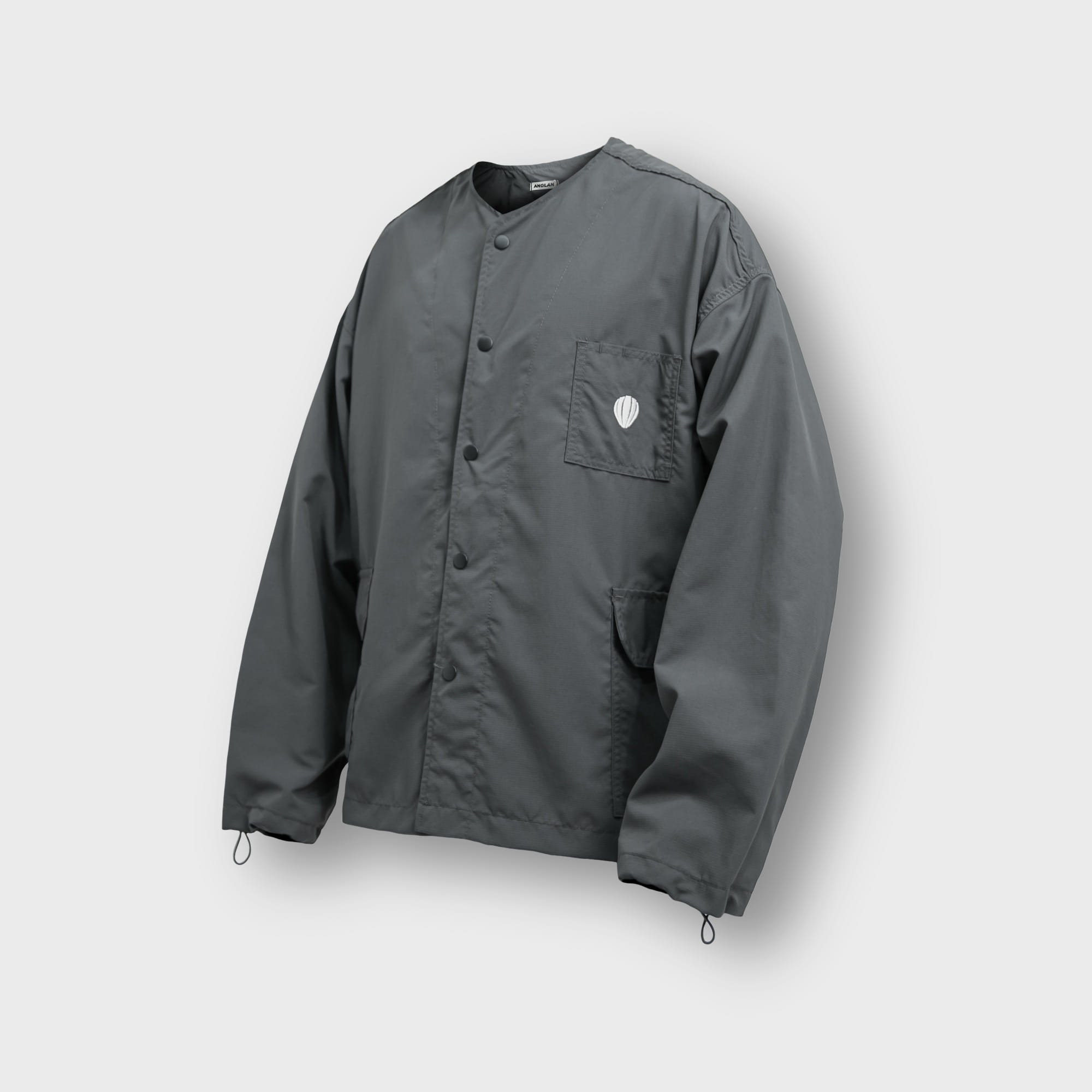 [AG] Rib Nylon Public Jacket - Grey