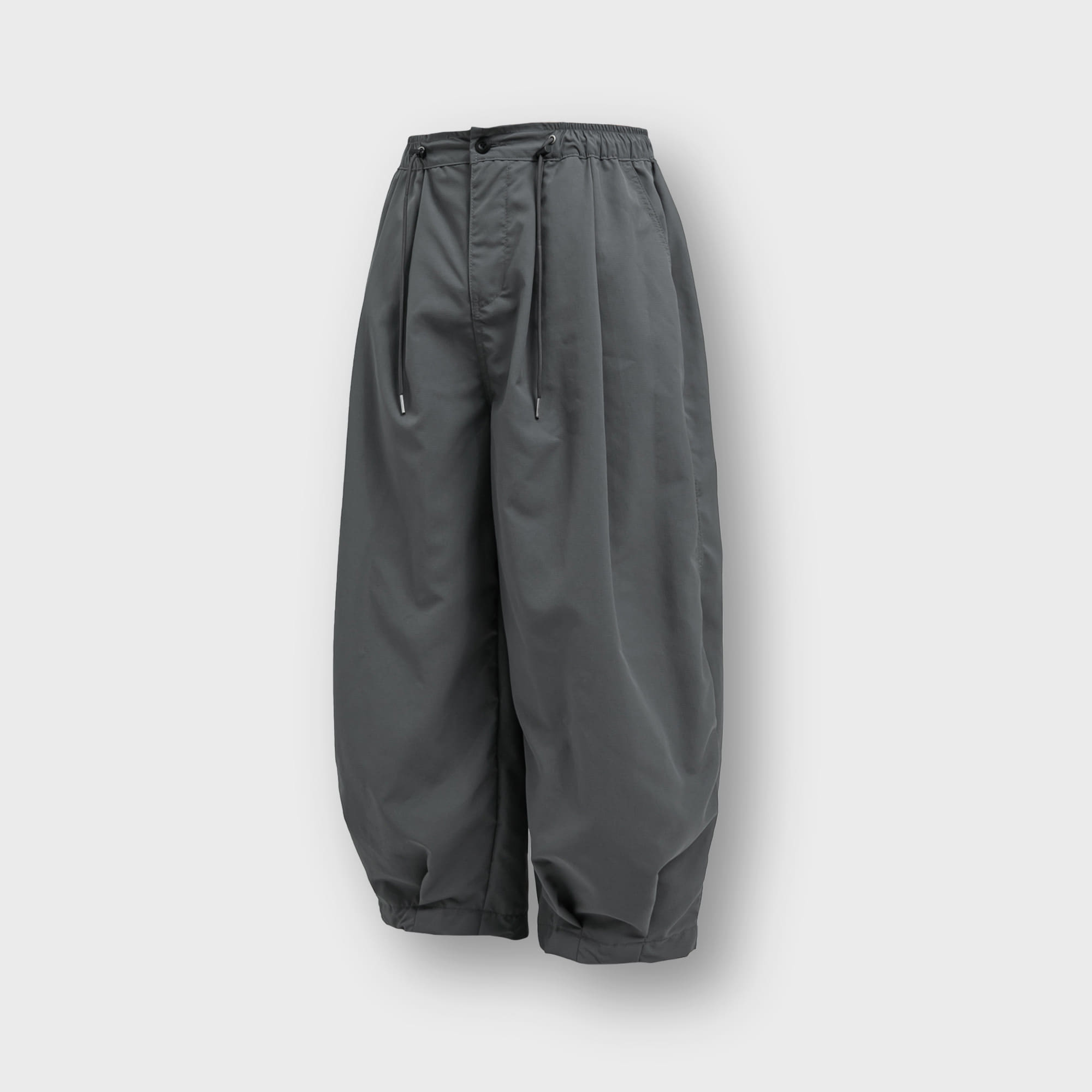 [AG] Rib Nylon Vijo Balloon Pants - Grey