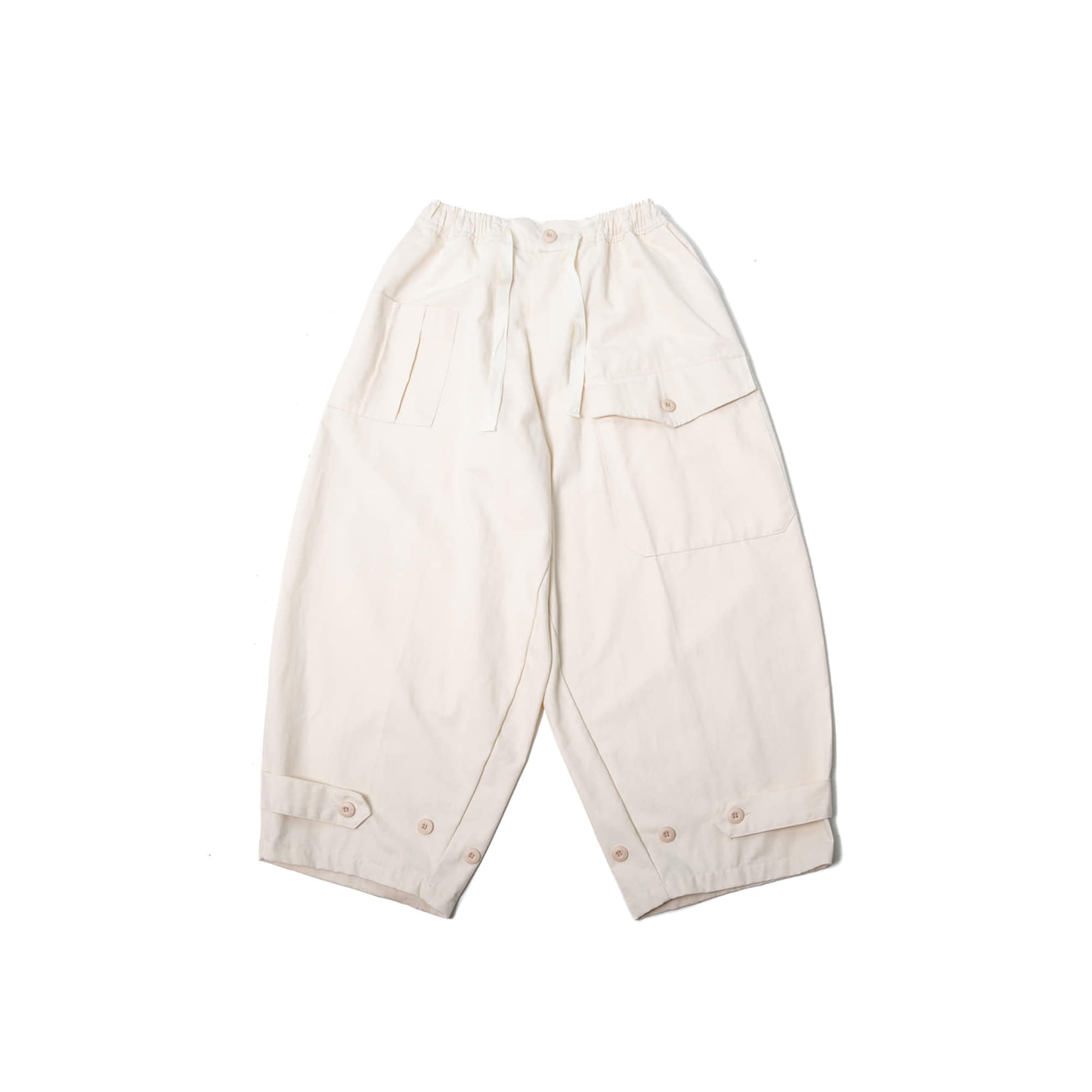 Herringbone Vijo Balloon Pants - Ivory