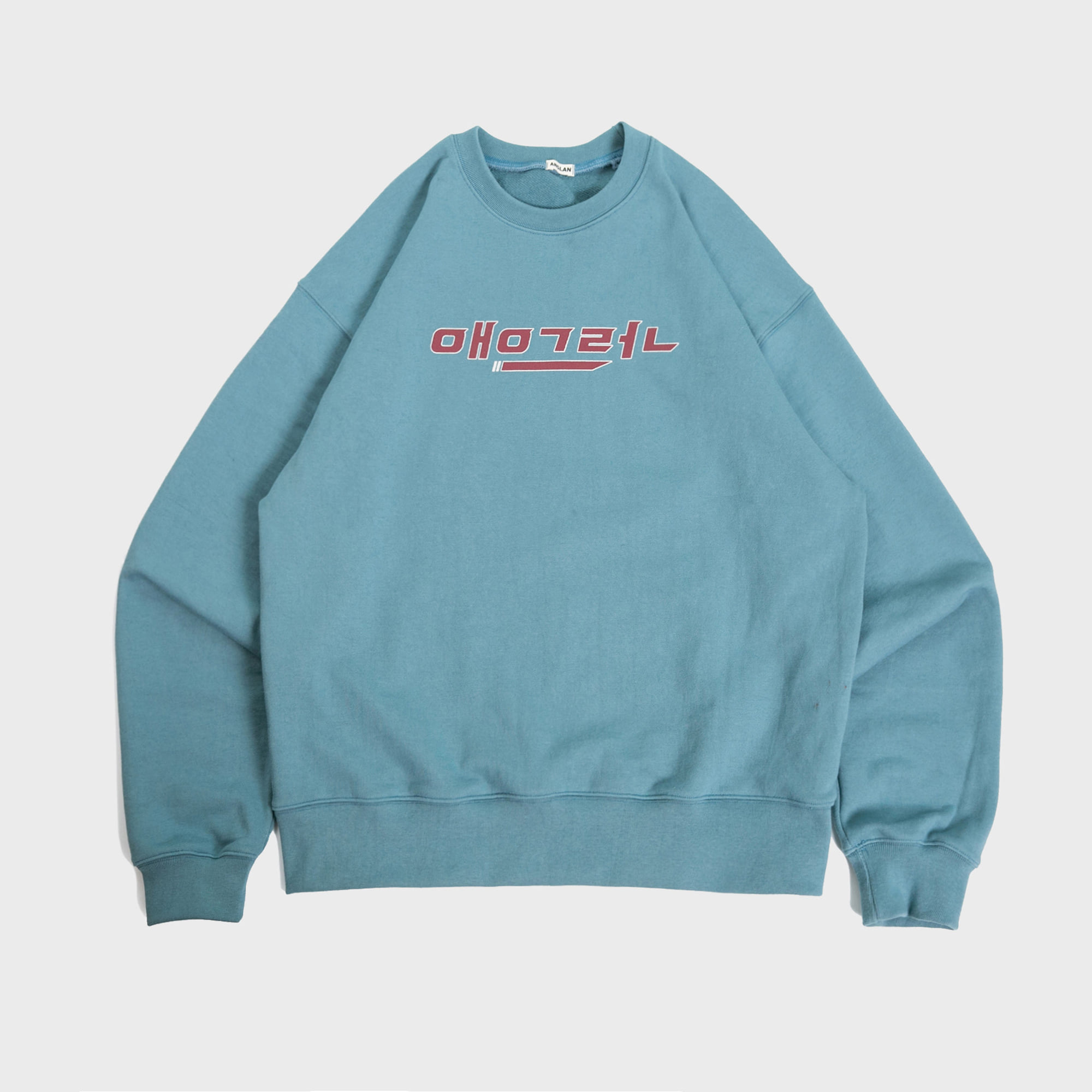 [AG] Korean ANGLAN Logo Sweat Shirts - Sky Blue