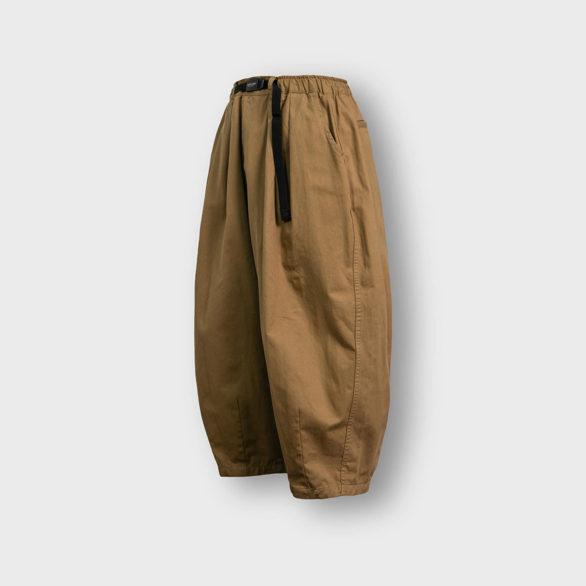 [AG] Twill Cotton Belt Balloon Pants - Beige