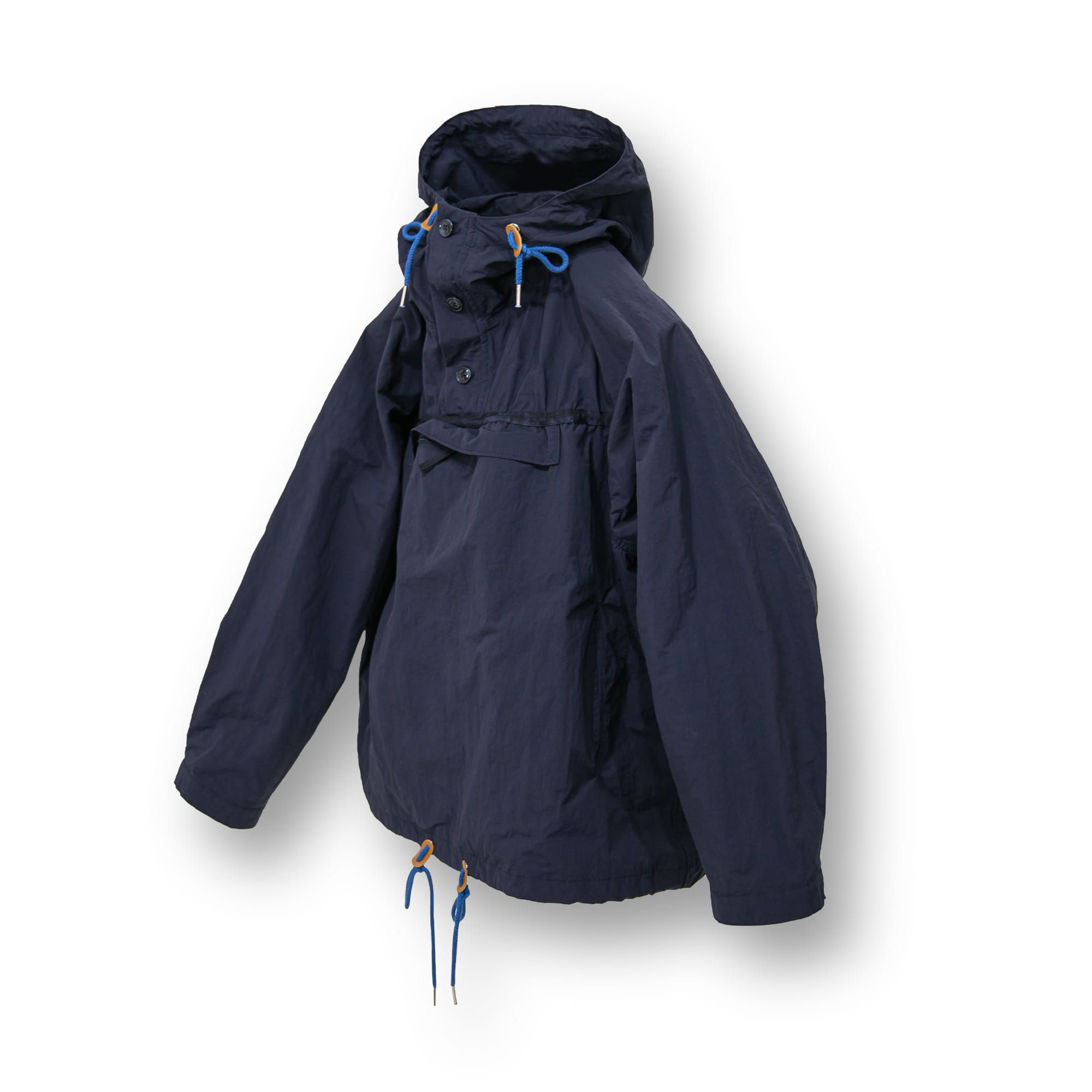 Crumple Out Wide Anorak - Navy
