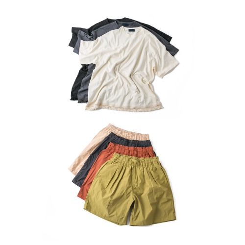 Lace Over Tee - 3color & Pintuck Garments Shorts - 4color